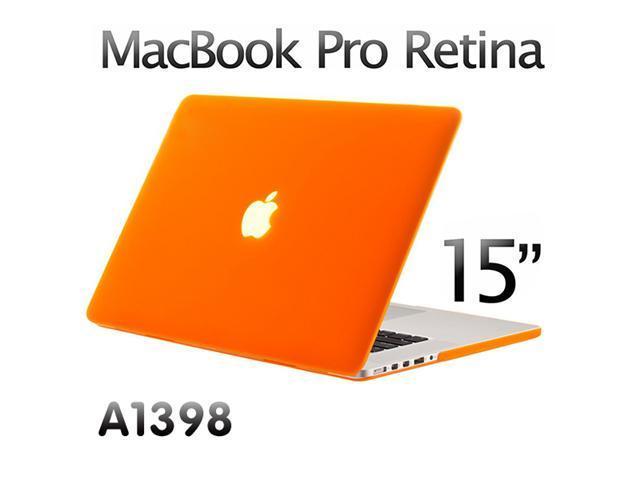 "new concept 27791 c9cdd 3 in 1 Rubberized Hard case for model A1398 Macbook Pro 15 15.4"" Retina  display +Keyboard Skin + Screen cover – Orange - Newegg.com"