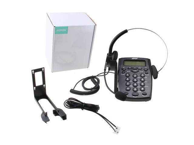 Call Center Dialpad Headset Telephone With Tone Dial Key Pad & Redial -  Noise Cancellation,Voice Recorder Port - Newegg com