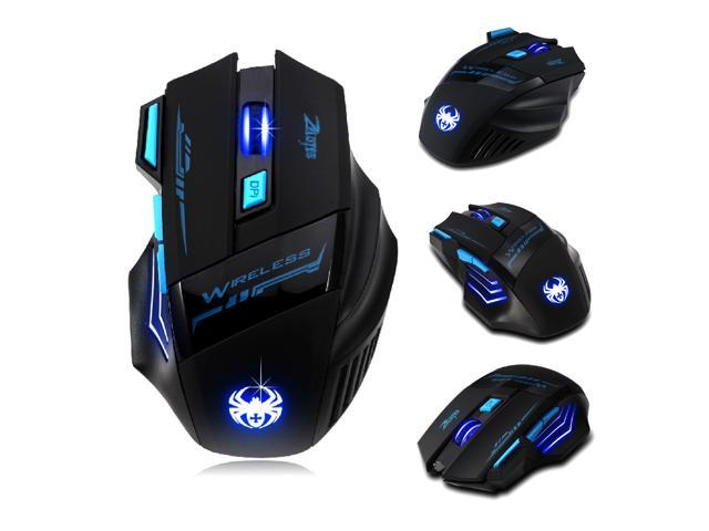 Wireless 2.4G 7-Button LED Gaming Mouse Adjustable 2400DPI for Laptop PC BO