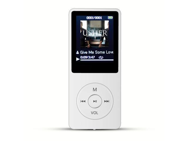 AGPtek Mp3 Player 2015 Latest Version 8GB (Supports up to 64GB) & 70 Hours  Playback MP3 Lossless Sound Music Player, Color White - Newegg com