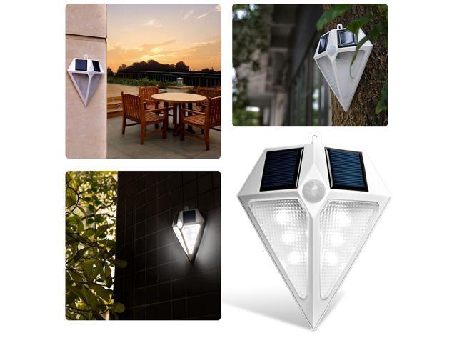 6x Solar Gutter Light 6LEDs Fence Light Outdoor Waterproof Garden Wall Yard Lamp