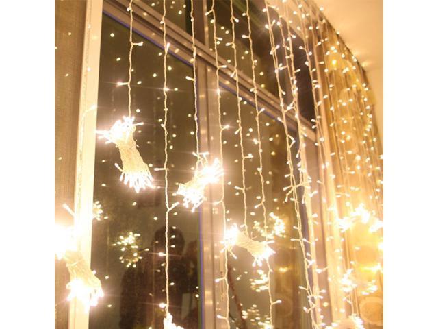 224led 9 8ft 6 6ft Christmas Festival Curtain String Fairy Wedding