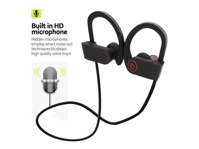 Waterproof Bluetooth Earbuds Best Wireless Headphones For Sports Gym Running Noise Cancelling Earphones W Microphone Mic Newegg Com