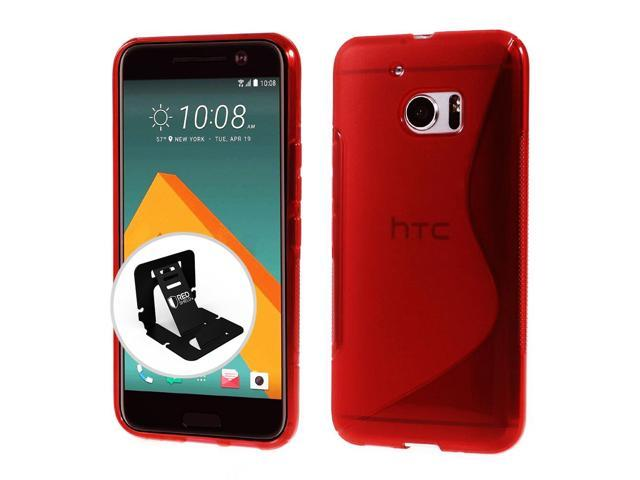 timeless design f566f 6c2bf [HTC 10] Case, REDshield [Frost Red] Durable Crystal Silicone Protective  TPU Gel Skin Case Cover - Newegg.com