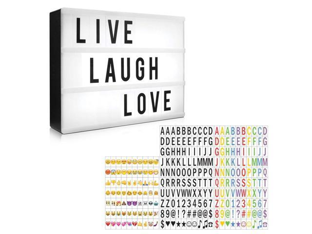 Letter Light Boxes.Eutuxia Cinematic Light Box Set With 330 Decorative Letters Numbers And Symbols I Led Light Box Room Decor Sign Marquee Light Up Sign