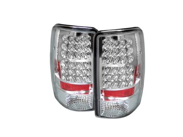Chevy 00-06 Suburban Tahoe Yukon Black LED Rear Tail Lights Lamp LS LT SLT SLE