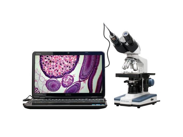OMAX 40X-2500X LED Digital Trinocular Lab Compound Microscope with 3MP Camera and Mechanical Stage