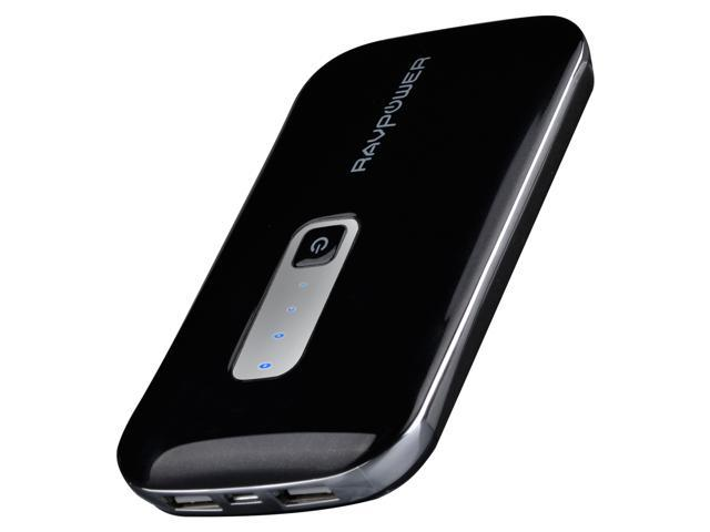 RAVPower Dynamo-On-the-Go RP-PB04 Super High Capacity Power Bank  (10000mAh/1A&2A Dual USB Output) with 7 DC Tips, for iPad, iPhone,  Smartphones,