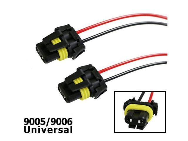 iJDMTOY (2) 900-Series 9005 9006 Adapter Wiring Harness ... on universal ignition switch, universal neutral safety switch, universal brake light switch, universal cruise control switch, universal headlight trim ring, universal hood release cable, universal headlight relay harness, universal headlight assembly,