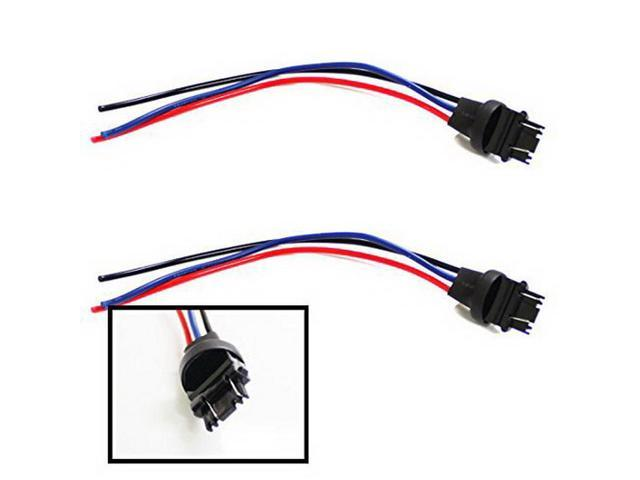 iJDMTOY (2) 3156/3157 Male Adapter Wiring Harness For Car Motorcycle on