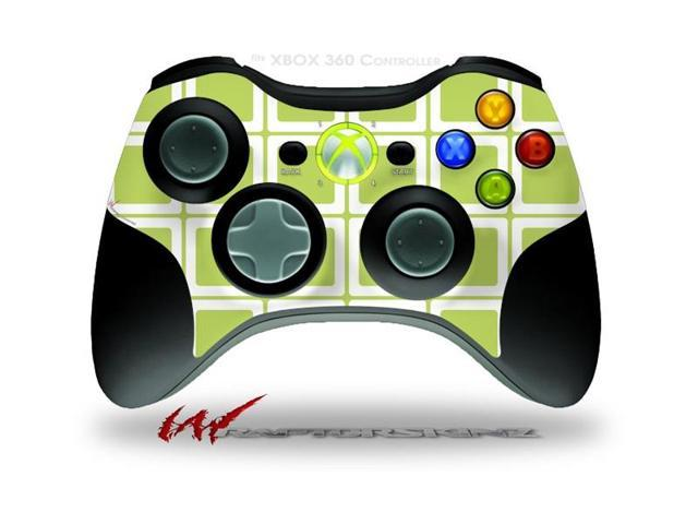 XBOX 360 Wireless Controller Decal Style Skin - Squared Sage Green