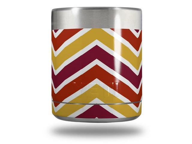 Zig Zag Yellow Burgundy Orange Skin Wrap fits Yeti Lowball YETI NOT  INCLUDED - Newegg com