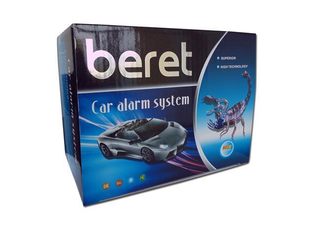 Beret Car Alarm System with 2 Remotes, Shock Sensor, and Keyless ...