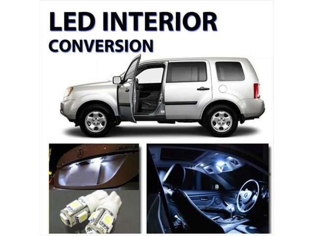 pcs bright white led lights interior kit  honda pilot   neweggcom