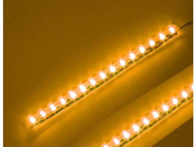 Amber 15cm (6 inch) PVC LED Strip 15 LED Waterproof Flexible pre-wired