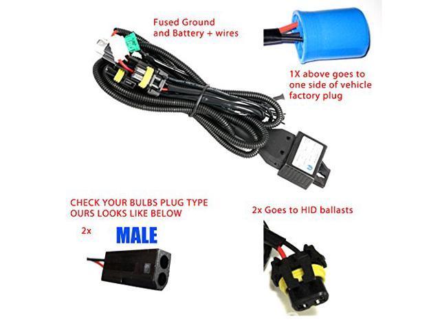 Enjoyable 9007 H L Hid Kit Wire Relay Harness For Bi Xenon Kits Newegg Com Wiring Database Plangelartorg