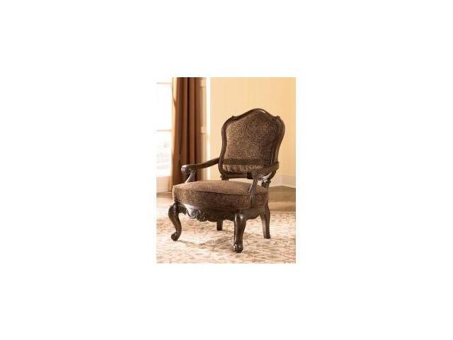 North Shore   Dark Brown Showood Accent Chair By Ashley Furniture
