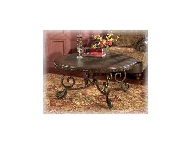 Rafferty Round Cocktail Table By Ashley Furniture Newegg Com