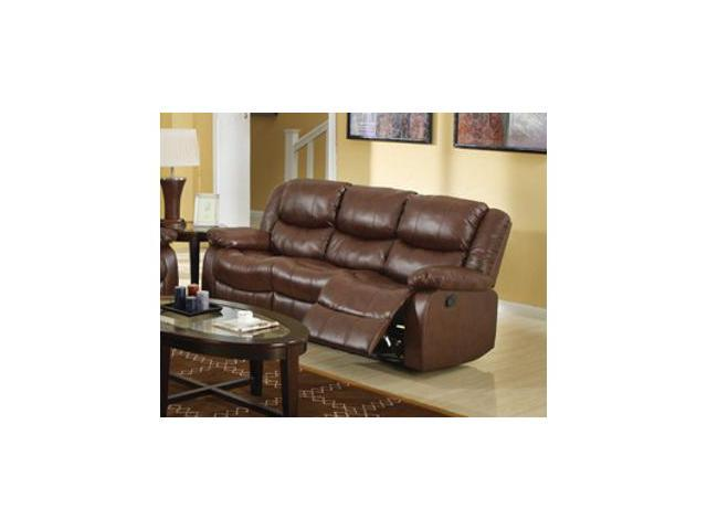 Bonded Leather Match Sofa w/ Motion in Brown by Acme Furniture - Newegg.com