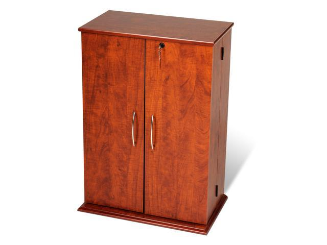 Prepac Cvs 0136 Cherry Black Small Locking Media Storage Cabinet
