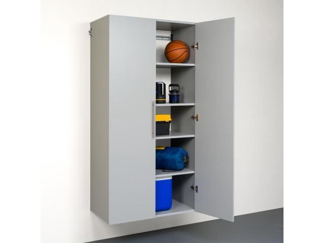 Prepac HangUps 36 Inch Large Storage Cabinet, Light Grey   GSCW 0708 2K