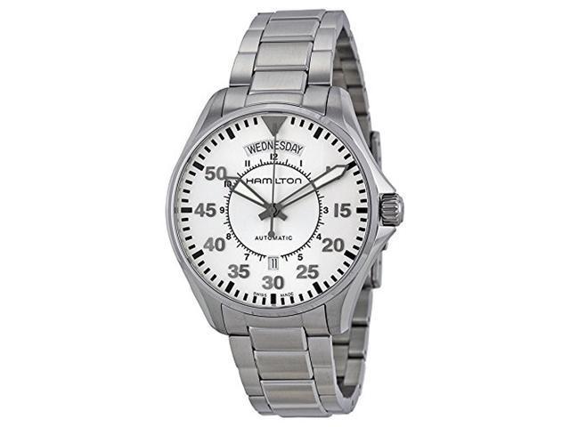 Hamilton Men S H64615155 Pilot Day Date White Watch Newegg Com