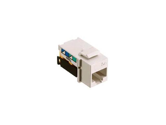 Hubbell Wiring Devices NSJ5EW NETSELECT® Modular Voice/Data Jack, on wireless jack, cinderella jack, sound jack,