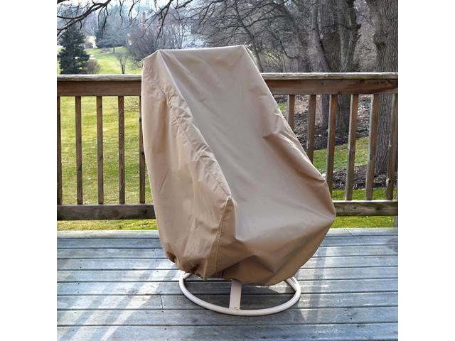 Strange High Back Patio Chair Protective Furniture Cover Champagne Newegg Com Download Free Architecture Designs Scobabritishbridgeorg