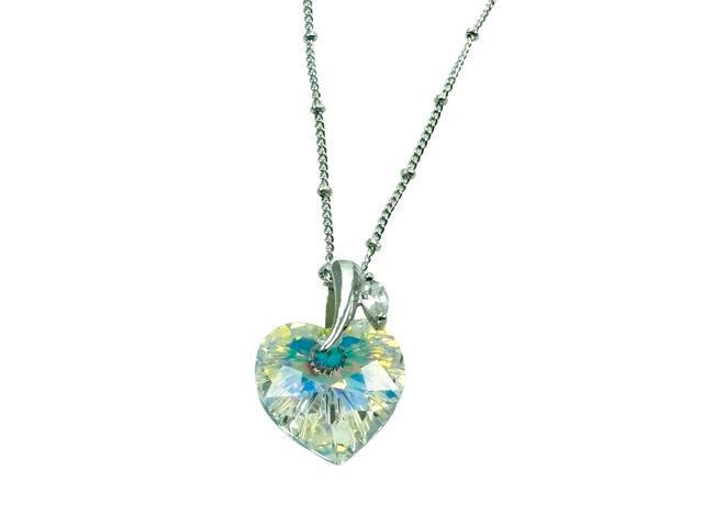 "7828790fb72bb Crystal Color Swarovski Crystal ""Enduring Love"" Pendant.16"" - Newegg.com"