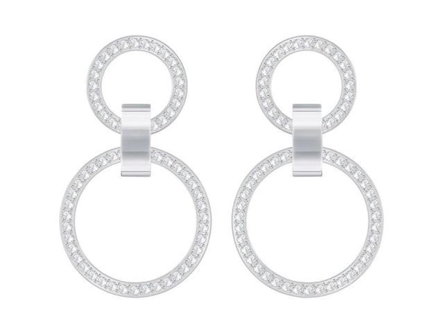 6d398025f Swarovski Hollow Chandelier Pierced Earrings - White - Rhodium Plating -  5349353