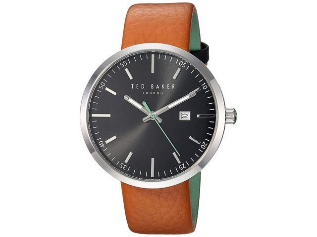 0a88dd4f961e Ted Baker 10031561 Men s Brown Leather Band With Black Analog Dial Watch NWT