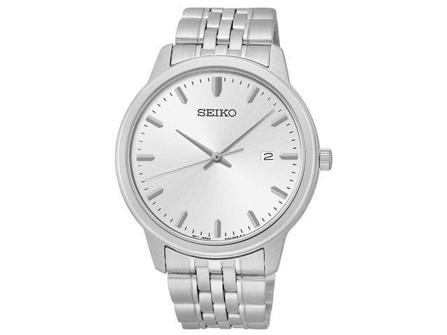 Seiko Men's SUR091 Analog Japanese Quartz Silver Tone Dial Stainless Steel Watch