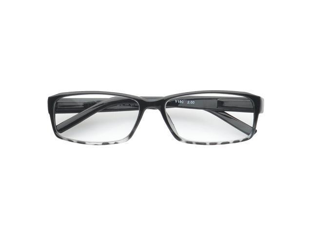 74e06f1c21a MLC Eyewear  Lynton  Rectangle Reading Glasses +2.25 in Black ...