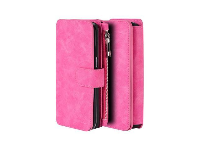 separation shoes 00f37 e878f Samsung Galaxy S7 Edge Luxury Coach Series Flip Wallet Case Hot Pink -  Newegg.com