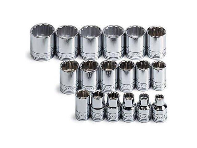 """SK Hand Tools 41406 3//8/"""" Dr 7mm Metric Hex Bit Socket"""