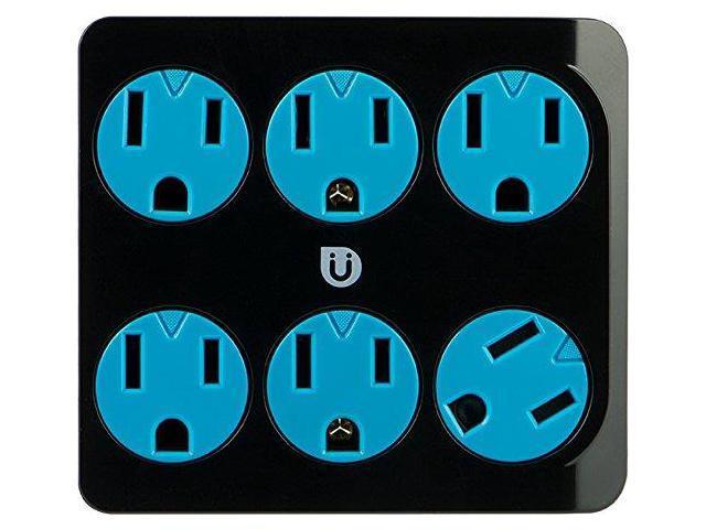 GE 25112 Uber 6-Outlet Power Tap (Black & Blue) - Newegg com