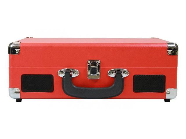 Craig Electronics CD698RD Red 3 In 1 Stereo Suitcase Turntable System -  Newegg com
