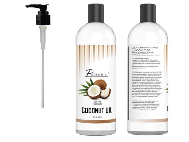 Pursonic CNO16 14 oz Pure Fractionated Coconut Oil - Non Greasy - Newegg com
