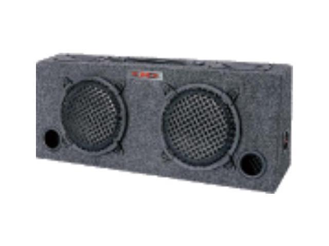 "Audiopipe KIC80 Woofer Box Dual 8/"" XXX 2-Way Loaded Angle Style; 250Watts"