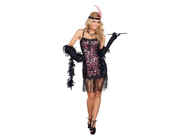 Plus Size Cotton Club Cutie Flapper Costume Newegg