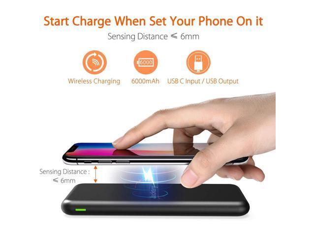 Jackery AirRocket Wireless Charging 6000mAh Portable Power Bank - Black