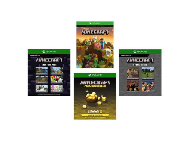 Xbox One Minecraft Full Game, 1K Minecoins, Starter & Creators Pack (Code)  - Newegg com