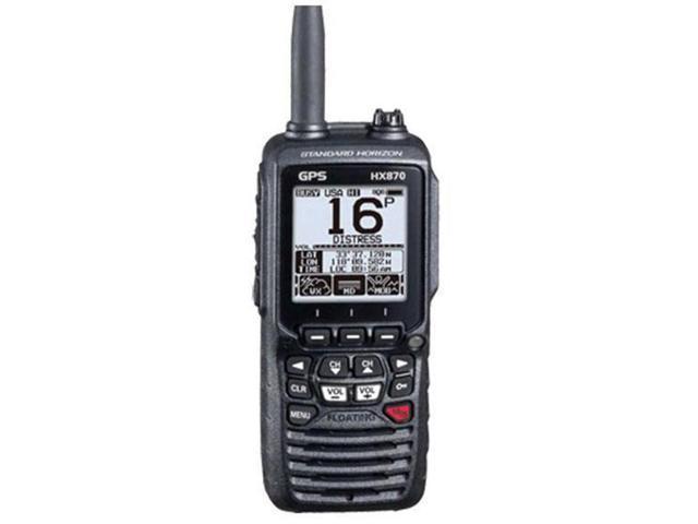 Standard Horizon HX870 6W Floating Handheld VHF Radio w//Integrated GPS