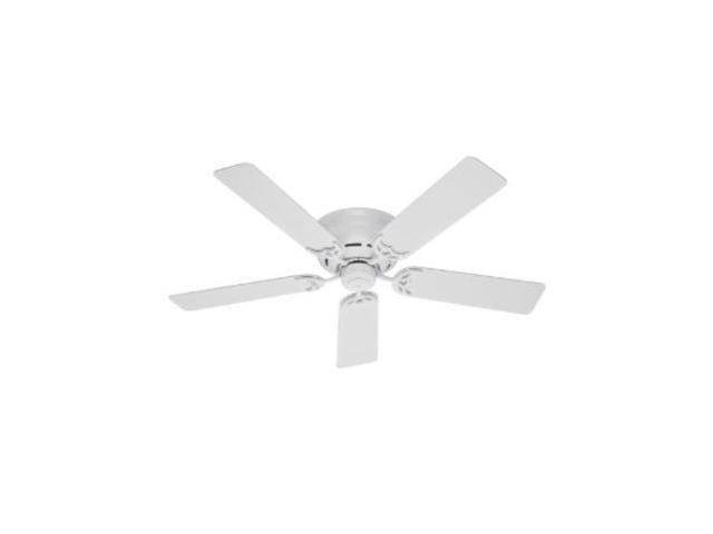 Hunter 51059 42 In Low Profile White Ceiling Fan