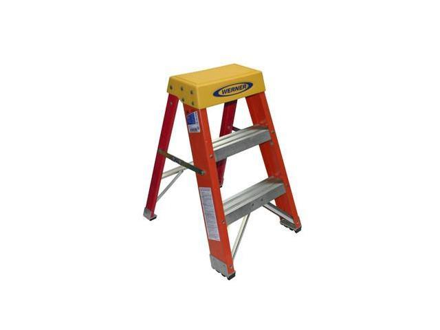 Admirable 2 Steps Fiberglass Step Stool 300 Lb Load Capacity Blue Silver Yellow Werner 6202 Ibusinesslaw Wood Chair Design Ideas Ibusinesslaworg