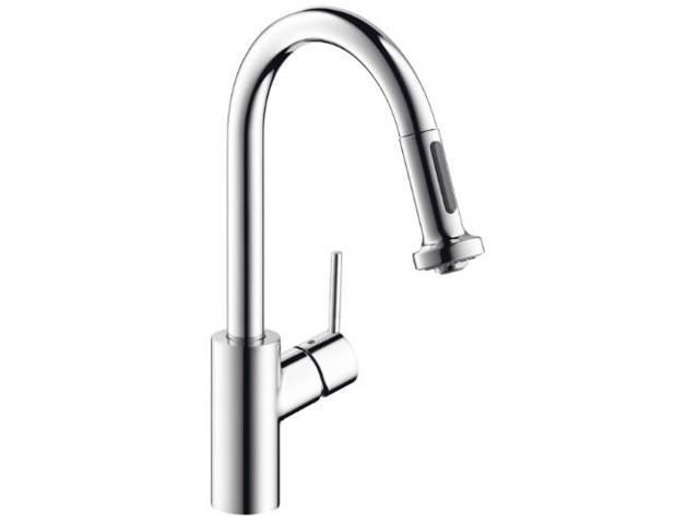 Hansgrohe 04506001 Focus 2-Spray HighArc Prep Kitchen Faucet, Pull-Down  Chrome