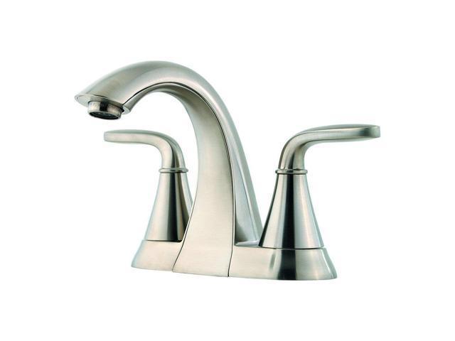 7 Faucet Finishes For Fabulous Bathrooms: Pfister LF048PDKK Pasadena 2 Handle 4 Inch Centerset