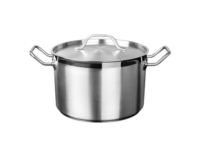 Excellante 100 Qt 18 8 Stainless Steel Stock Pot With Lid Each