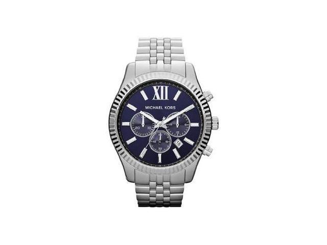 f3ac8607423b Michael Kors MK8280 Lexington Chronograph Navy Dial Men s Watch ...