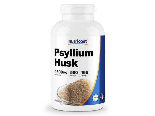 Nutricost Psyllium Husk 500mg, 500 Capsules - 1500mg Per Serving, Non-GMO &  Gluten Free - Newegg com